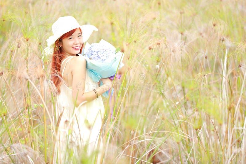 Vrij Aziatisch Meisje stock foto's