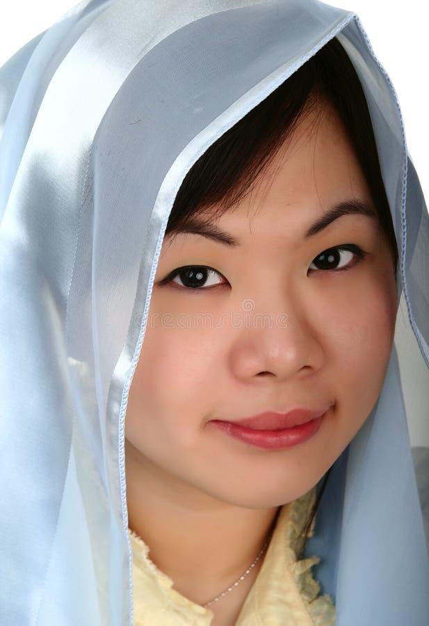 Vrij Aziatisch Meisje met Kap 2 royalty-vrije stock foto's