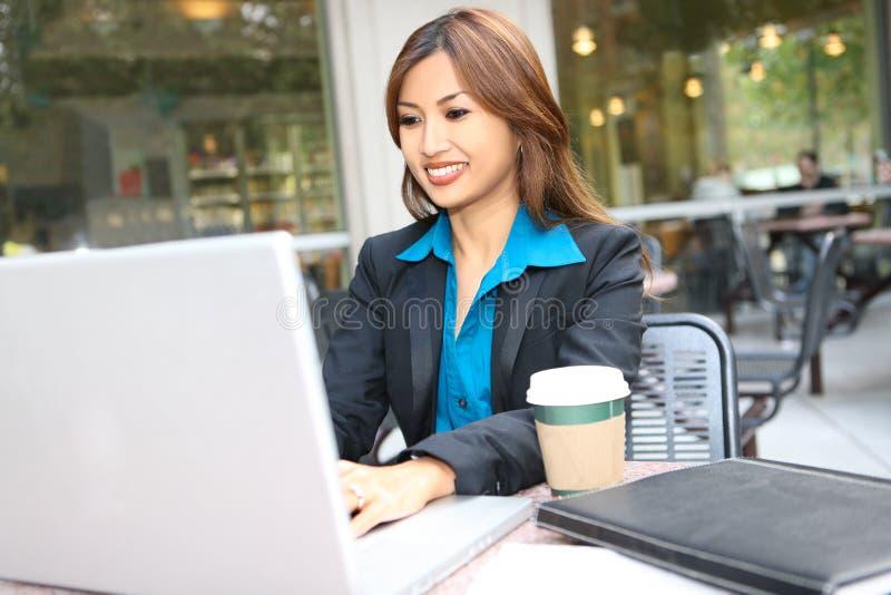 Vrij Aziatische BedrijfsVrouw stock fotografie