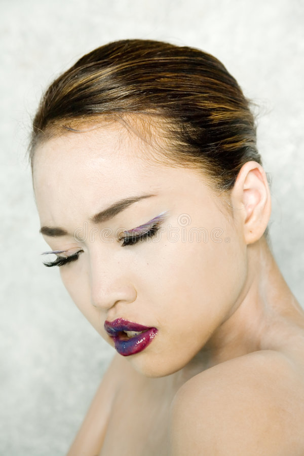 Vrij Aziatische vrouw stock afbeeldingen