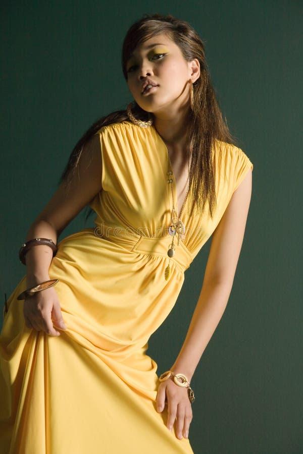 Vrij Aziatische vrouw royalty-vrije stock fotografie