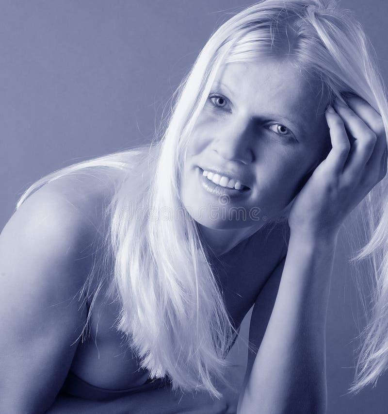 Vrij blond portret royalty-vrije stock foto's