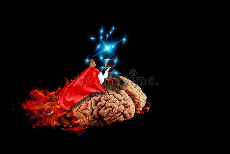 Vrij creatief het denken technologieënconcept royalty-vrije stock afbeelding