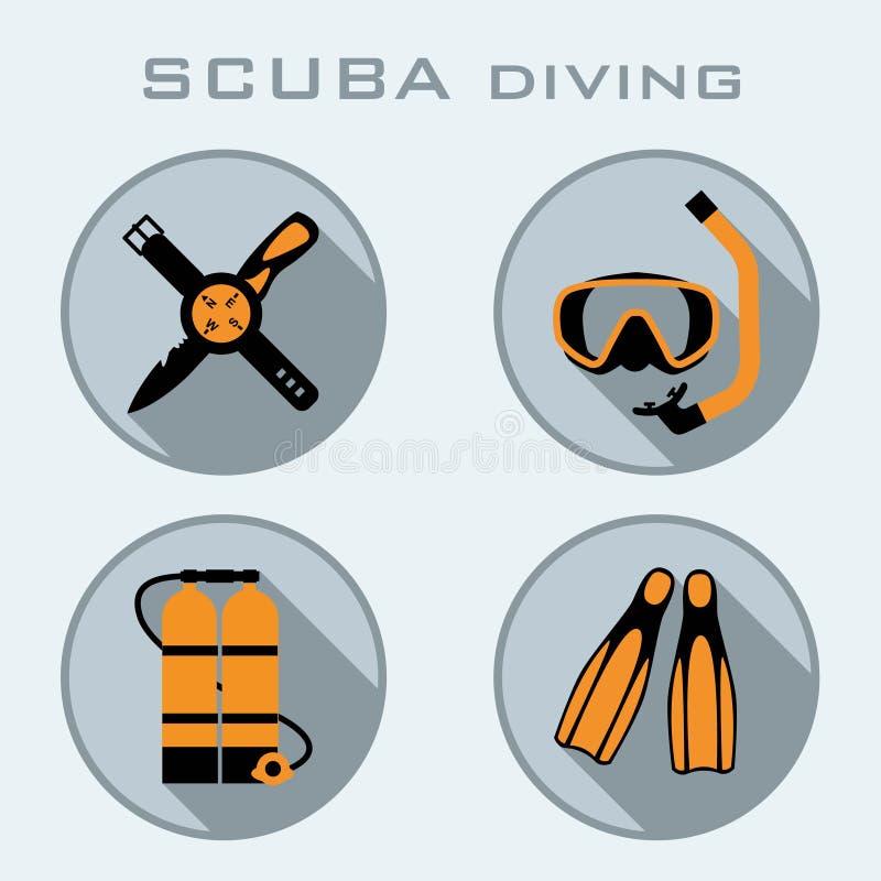 Vrij duikenpictogram stock foto's