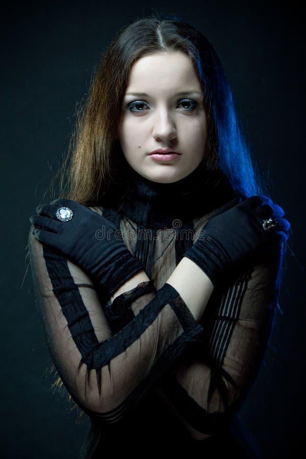 Vrij gotisch meisje royalty-vrije stock foto