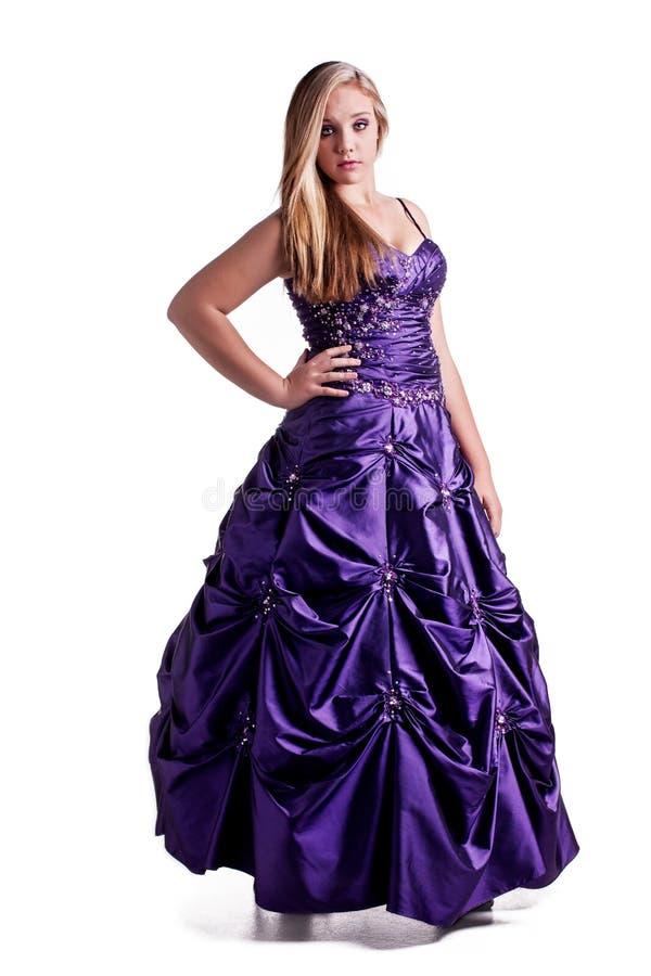 Vrij in hartstochtelijke purple stock foto
