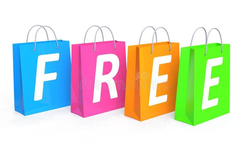 Vrij het winkelen concept royalty-vrije illustratie