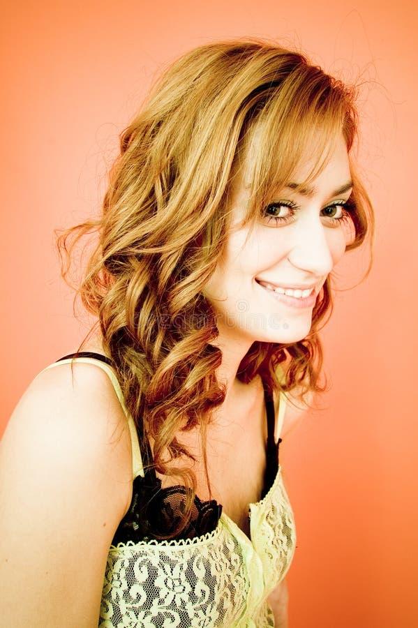 Vrij Jong Glimlachend Meisje - Portret stock foto's