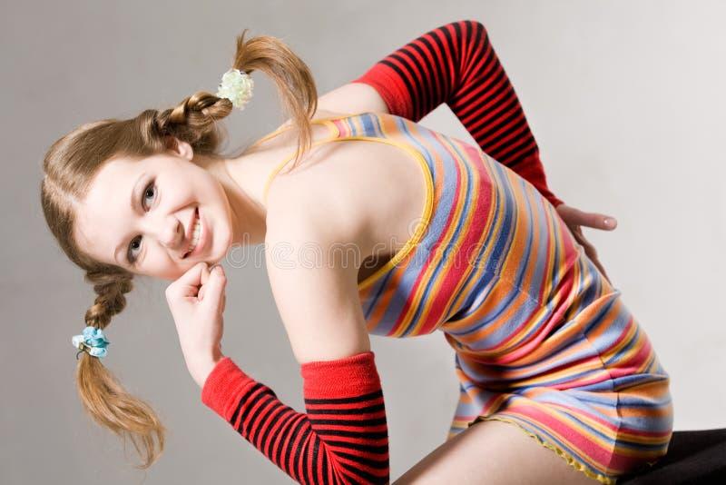 Vrij jong het glimlachen model stock fotografie