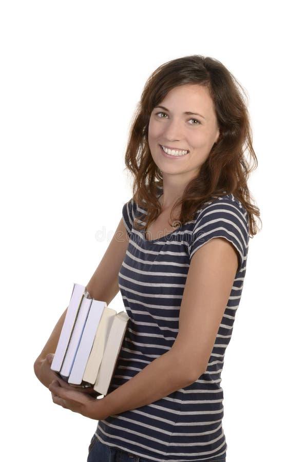 Vrij jonge student met boeken royalty-vrije stock afbeelding