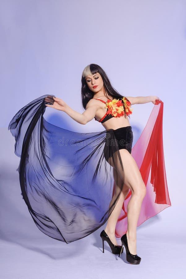 Download Vrij Jonge Vrouwelijke Danser Met Sluiers Stock Afbeelding - Afbeelding bestaande uit vrij, portret: 29507655