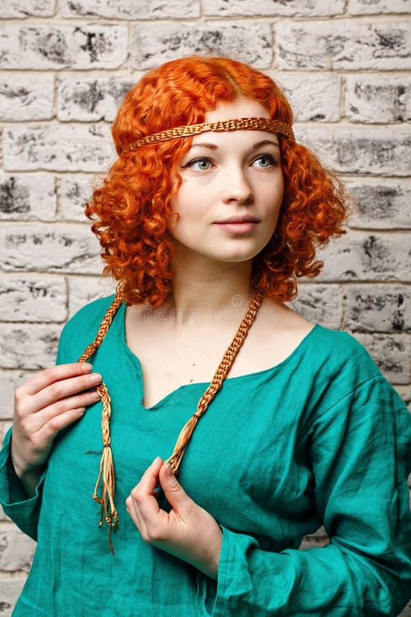 Vrij roodharig meisje royalty-vrije stock afbeelding