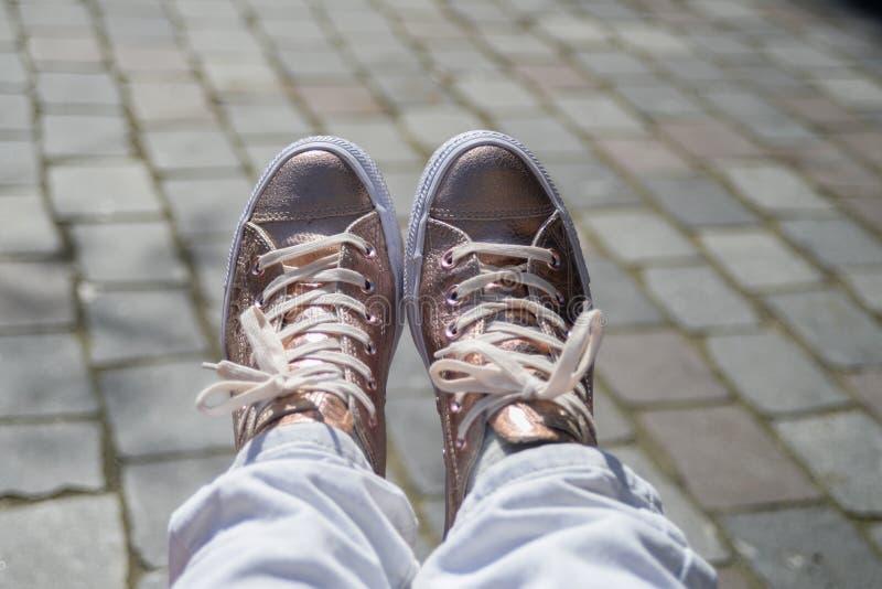 Vrij roze schoenen royalty-vrije stock foto