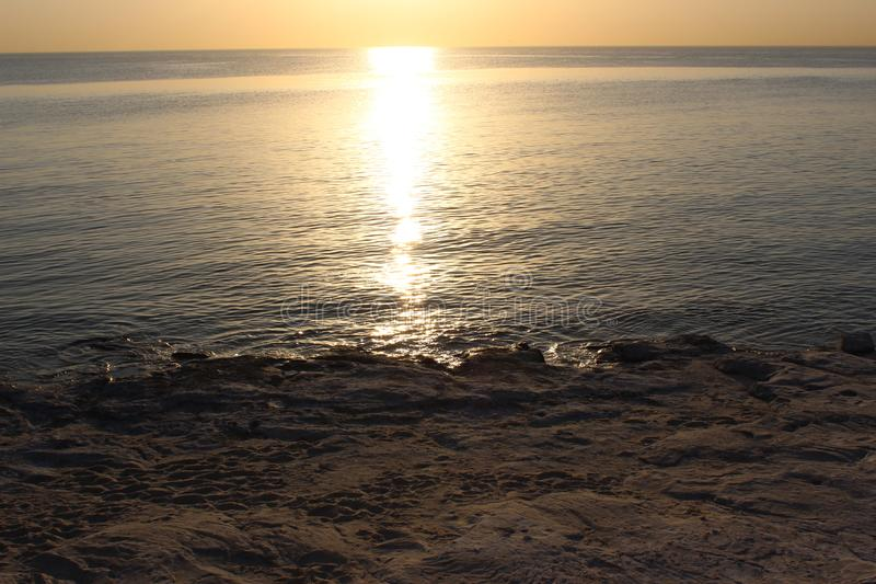 Vrij strand vroege ochtend stock foto's
