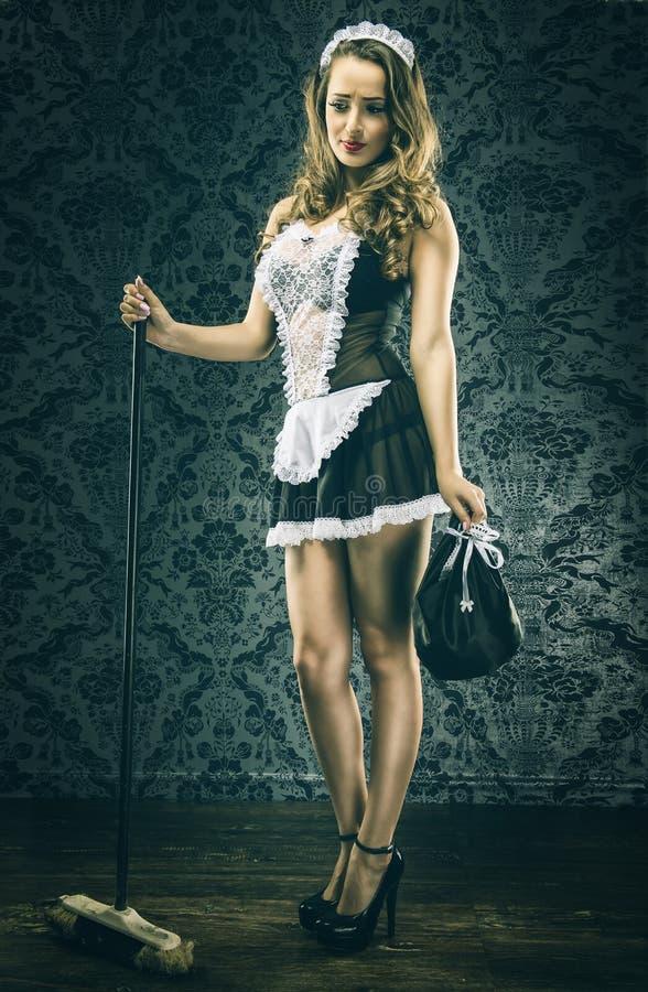 Vrij Uitstekend sexy meisje, dienstmeisje stock foto's