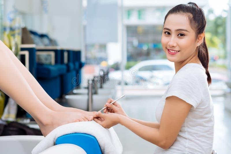 Vrij Vietnamese pedicure stock afbeeldingen