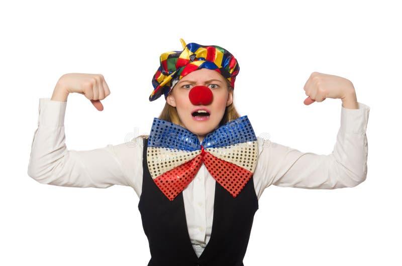 Vrij vrouwelijke clown royalty-vrije stock afbeeldingen