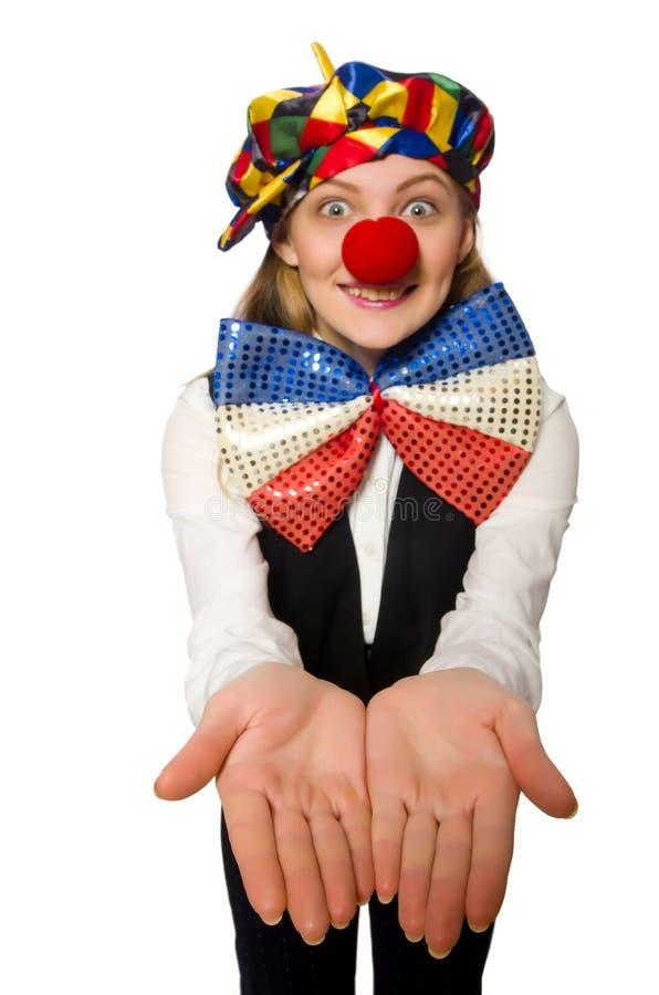 Vrij vrouwelijke clown stock afbeeldingen