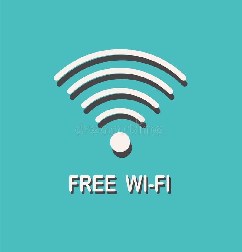 Vrij Wifi-teken Draadloos Netwerkpictogram Draadloos Netwerkpictogram De streek van WiFi stock illustratie