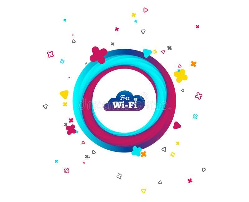 Vrij Wifi-teken Draadloos Netwerkpictogram Draadloos netwerk stock illustratie