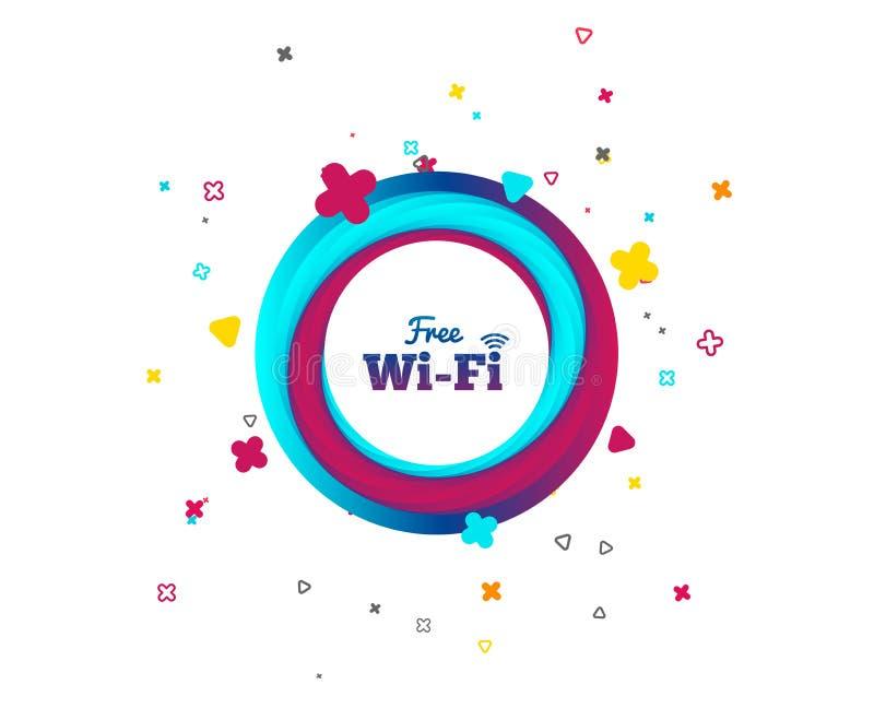 Vrij Wifi-teken Draadloos Netwerkpictogram Draadloos netwerk vector illustratie