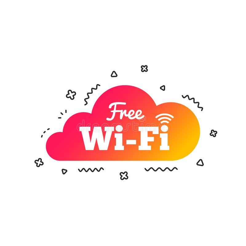 Vrij Wifi-teken Draadloos Netwerkpictogram Draadloos netwerk Vector vector illustratie