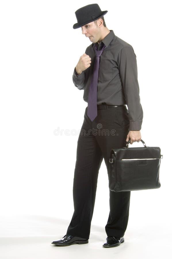 Vrij zenuwachtige zakenman stock foto's