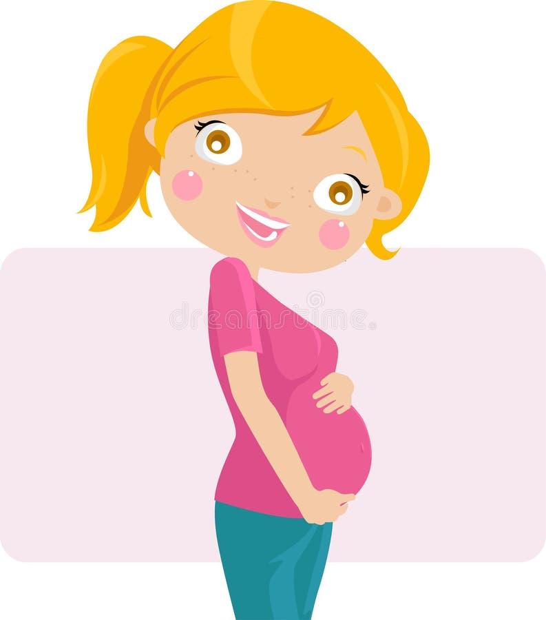 Vrij zwanger stock illustratie