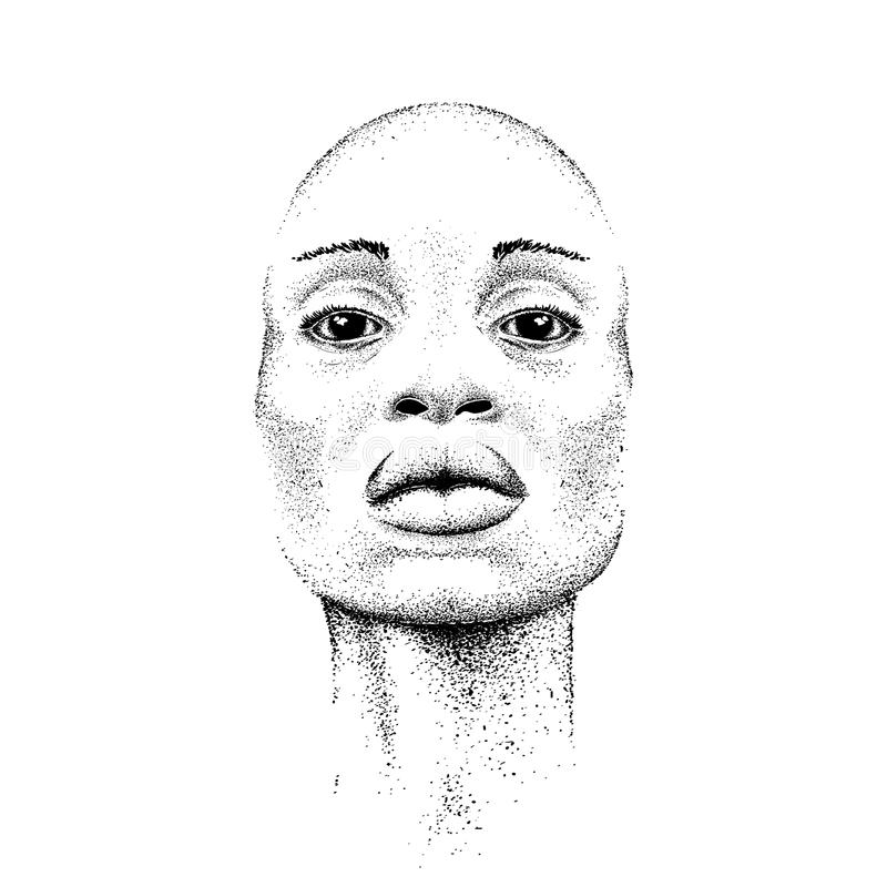 Vrij Zwart Meisje Mooie zwarte Extreme sporttent vector illustratie