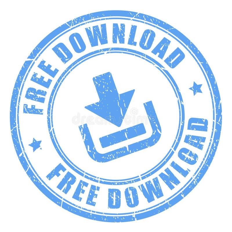 Vrije downloadzegel royalty-vrije illustratie