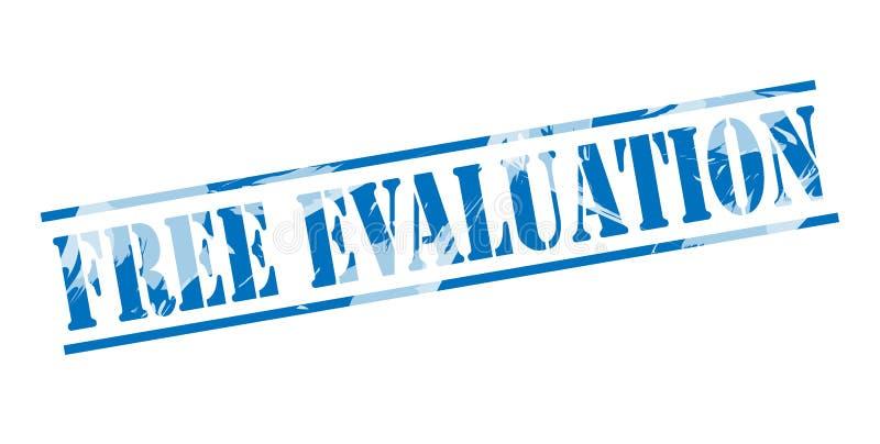 Vrije evaluatie blauwe zegel stock illustratie