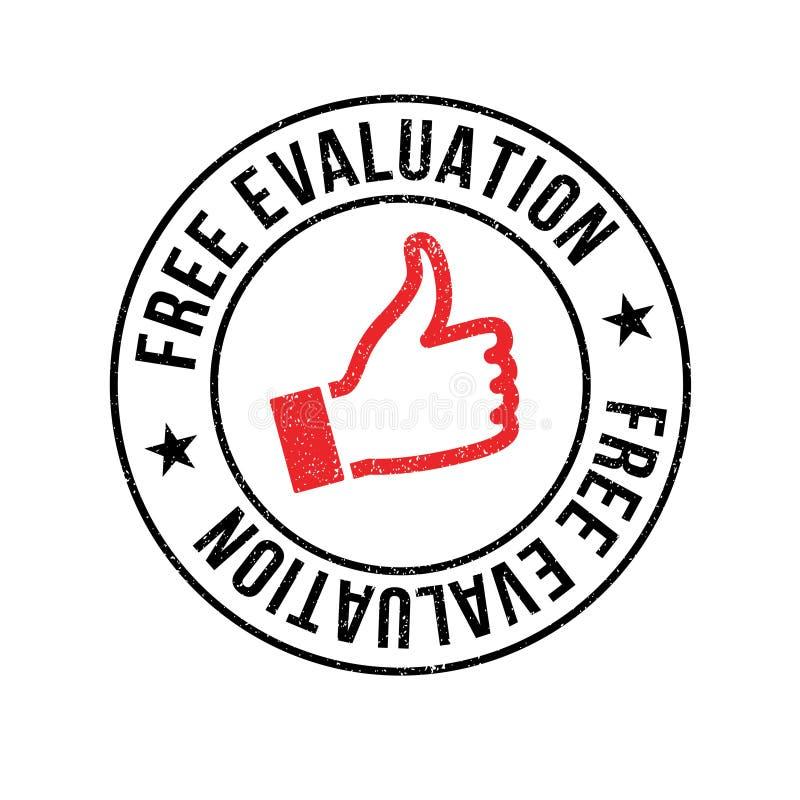 Vrije Evaluatie rubberzegel vector illustratie