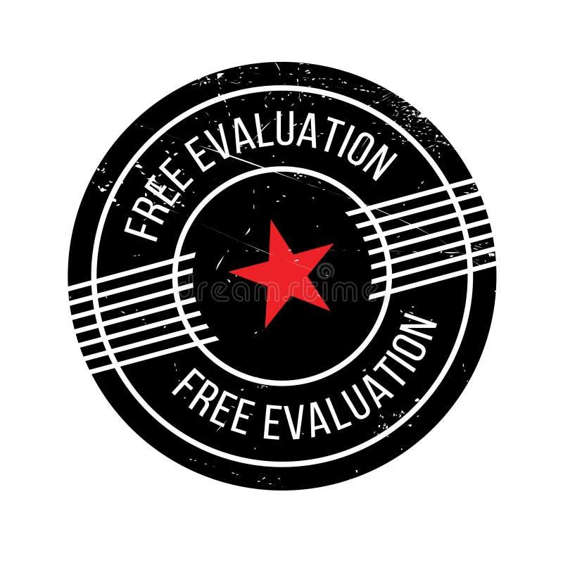 Vrije Evaluatie rubberzegel royalty-vrije illustratie