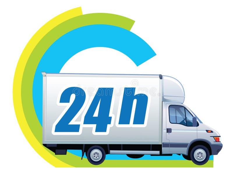 Vrije levering - 24h stock illustratie