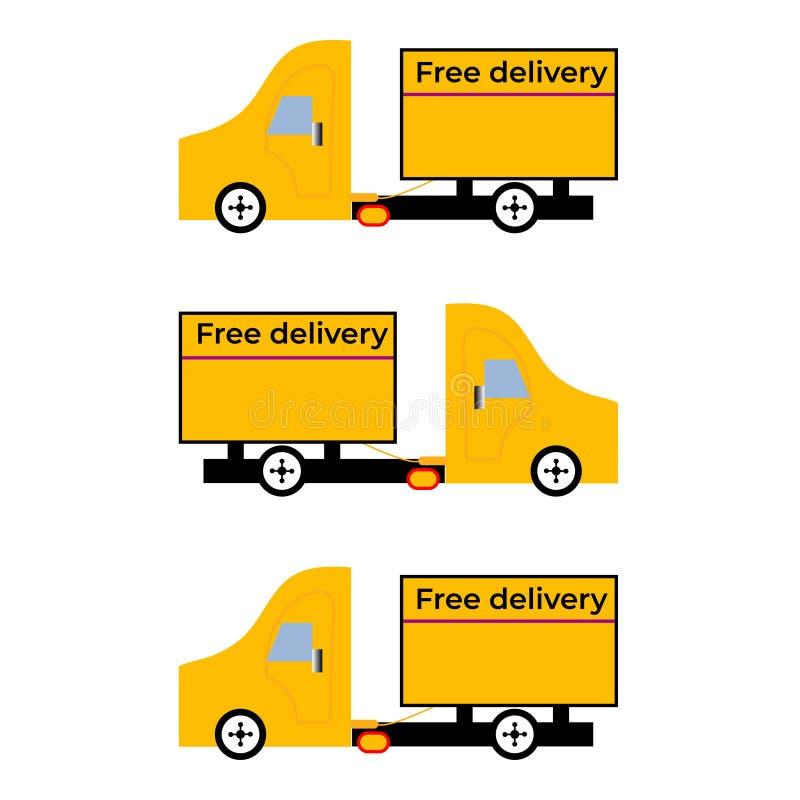 Vrije leveringsauto vector illustratie
