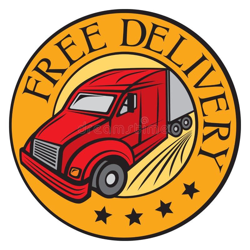 Vrije leveringsvrachtwagen stock illustratie