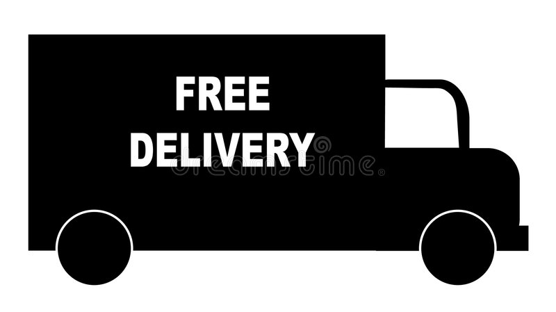 Vrije leveringsvrachtwagen royalty-vrije illustratie