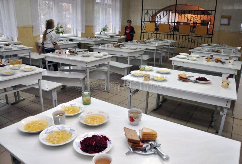Vrije maaltijd op school stock fotografie