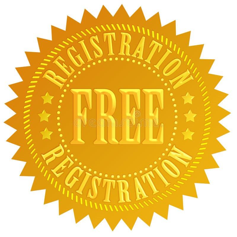 Vrije registratie royalty-vrije illustratie