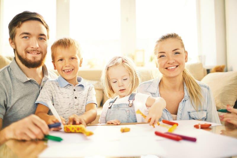 Vrije tijd met ouders royalty-vrije stock fotografie