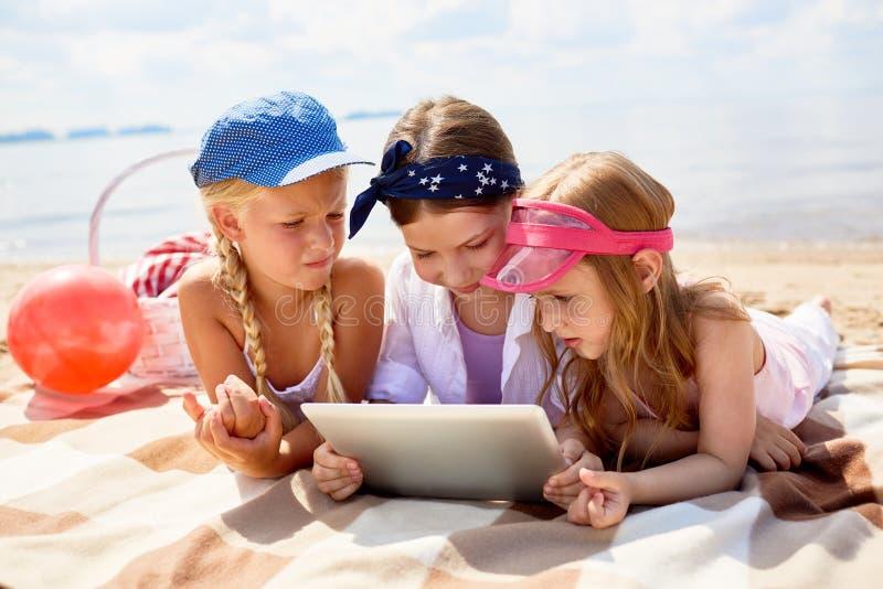 Vrije tijd op het strand royalty-vrije stock fotografie