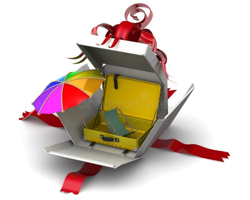 Vrije tijd op zee als gift Concept stock illustratie