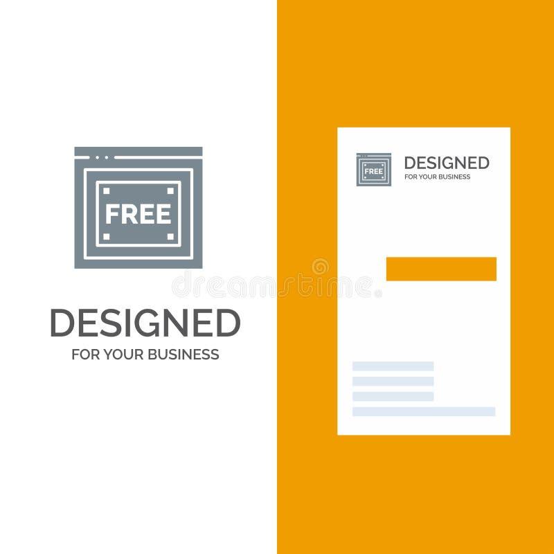 Vrije Toegang, Internet, Technologie, Vrij Grey Logo Design en Visitekaartjemalplaatje royalty-vrije illustratie