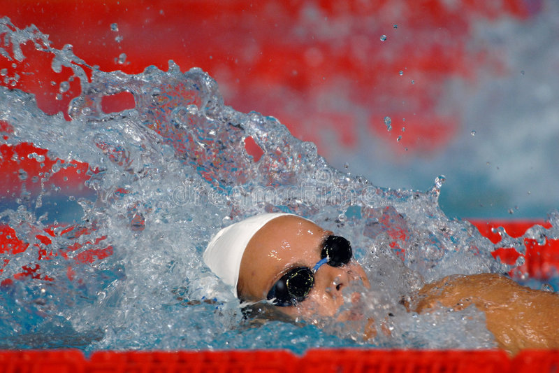 Vrije zwemmer 03 stock fotografie
