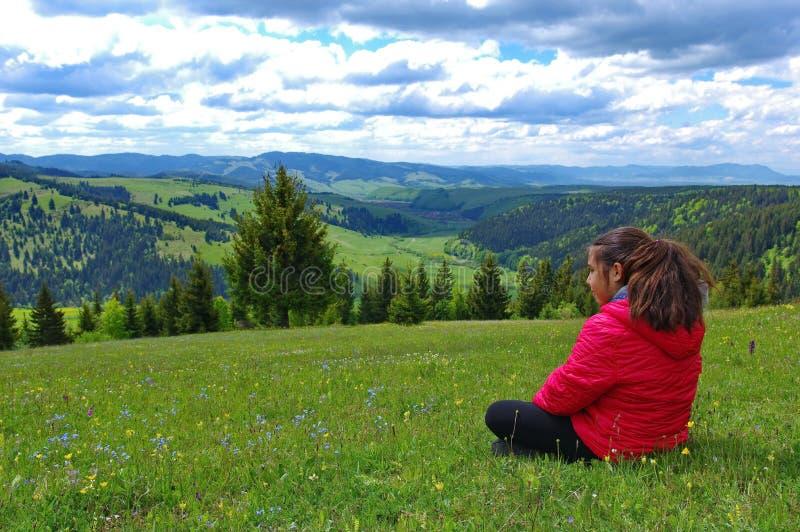 Vrijheid in de bergen stock fotografie