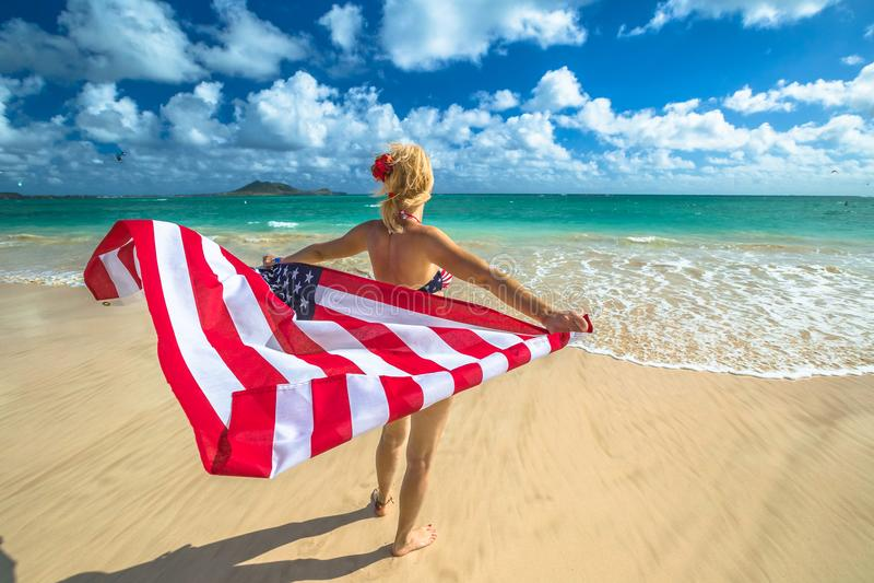 Vrijheid en 4 Juli stock foto