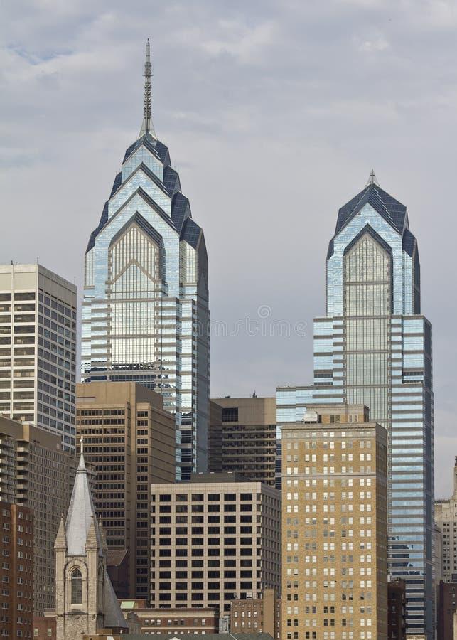 Vrijheid I van Philadelphia en Vrijheid II royalty-vrije stock afbeelding