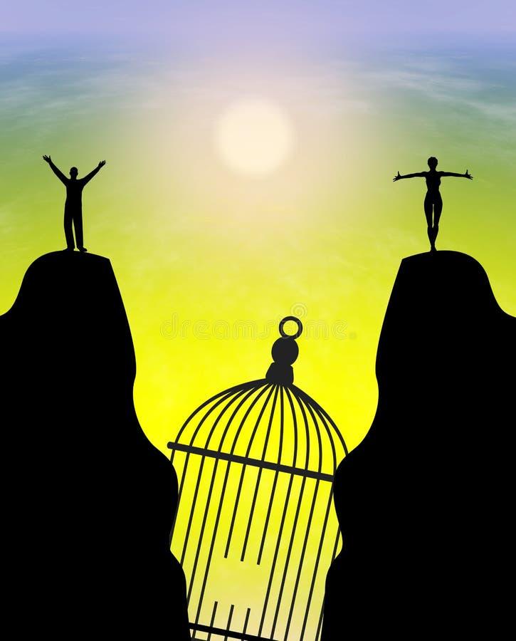 Vrijheid na Scheiding vector illustratie
