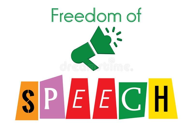 Vrijheid van toespraak vector illustratie