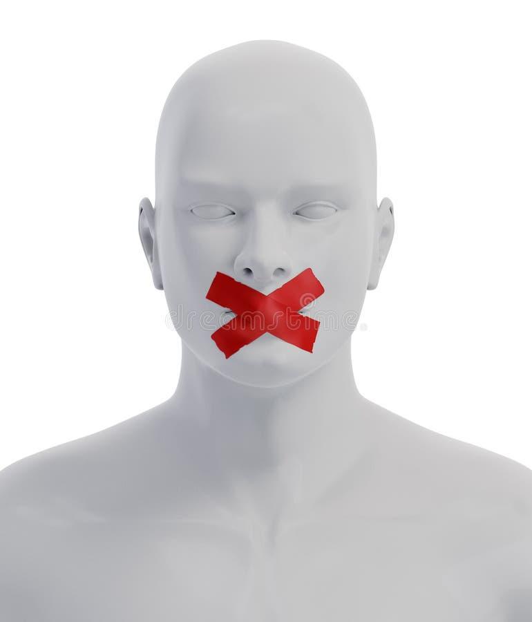 Vrijheid van toespraakconcept vector illustratie
